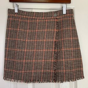 Urban Outfitters Cozy Plaid Wrap Skirt